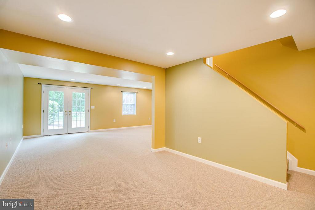 Walkout finished basement with French doors - 40 DOROTHY LN, STAFFORD