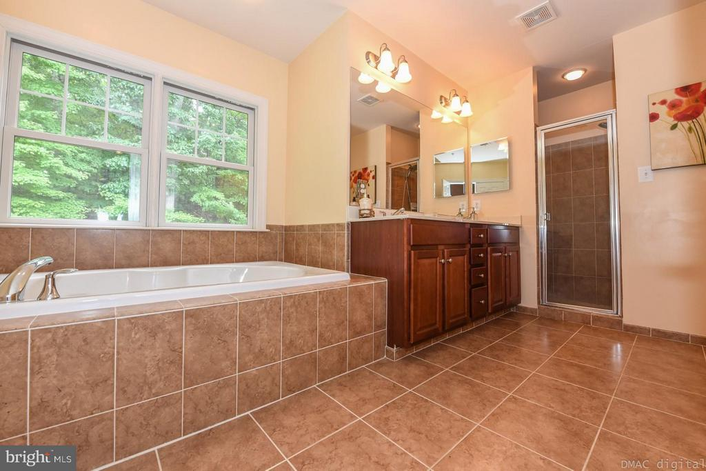 Master bath with separate shower and bath - 6720 BOX TURTLE CT, NEW MARKET