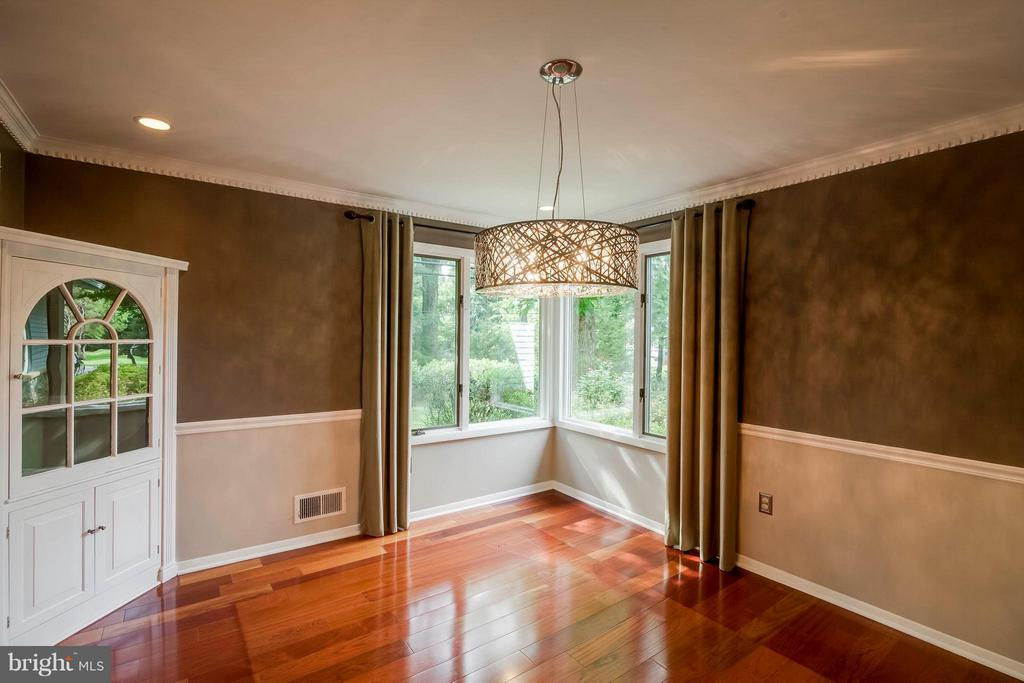 Built in cabinet and upgraded lighting in DR - 7732 OAK ST, FALLS CHURCH