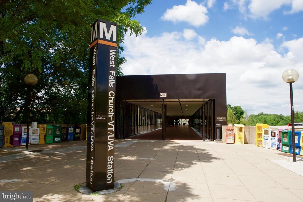 West Falls Metro across the street - 7000 FALLS REACH DR #412, FALLS CHURCH