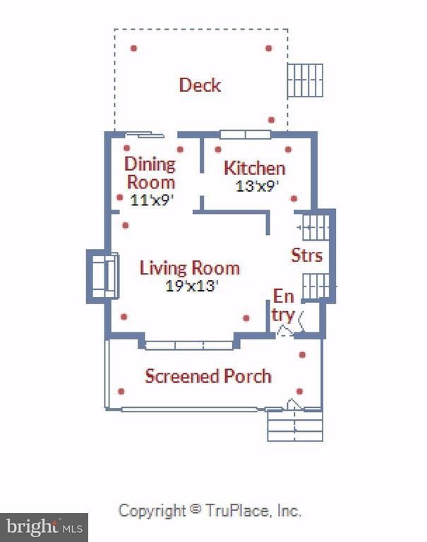 Main Level Floor Plan - 5802 FLAXTON PL, ALEXANDRIA