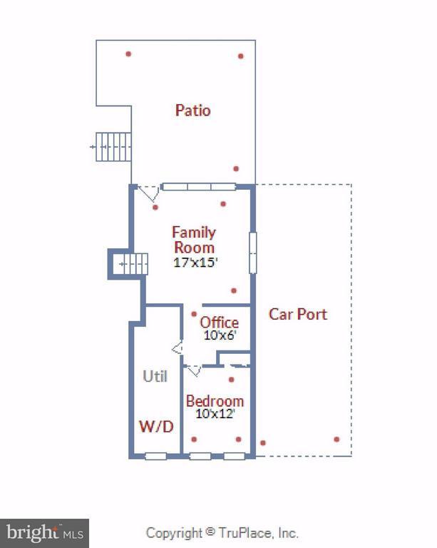 Lower Level Floor Plan - 5802 FLAXTON PL, ALEXANDRIA