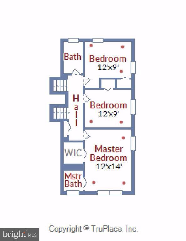 Upper Level Floor Plan - 5802 FLAXTON PL, ALEXANDRIA