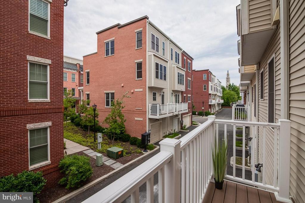 Rear Balcony off Kitchen - 3102 CHANCELLORS WAY NE, WASHINGTON