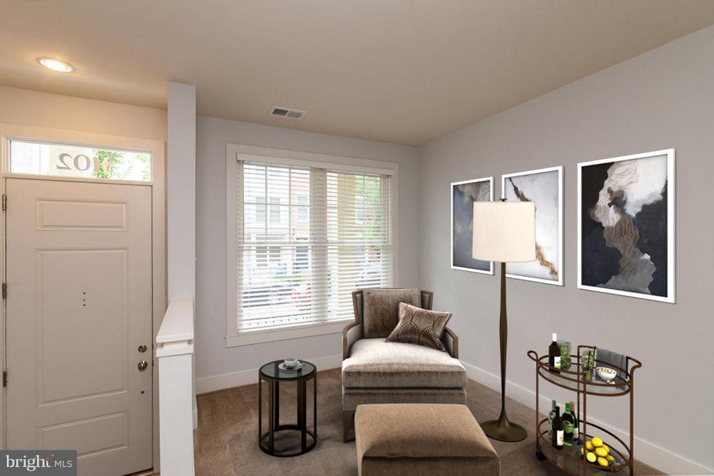 Den/ Office/ Sitting area as you enter the home. - 3102 CHANCELLORS WAY NE, WASHINGTON