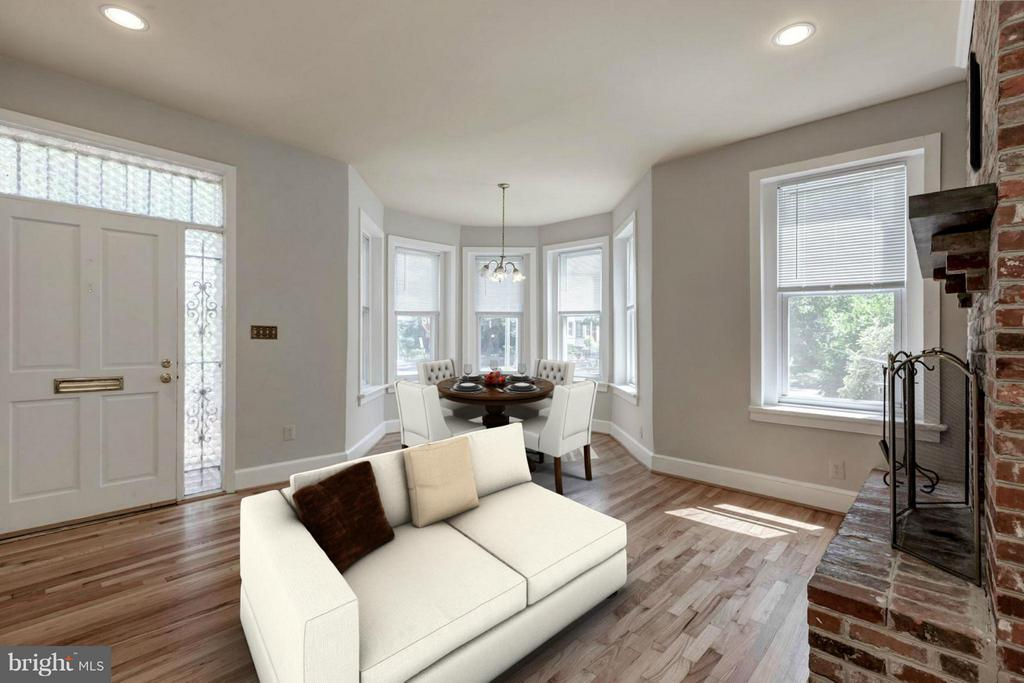 Unit #2 Living Room (1 of 2) - 421 E ST NE, WASHINGTON