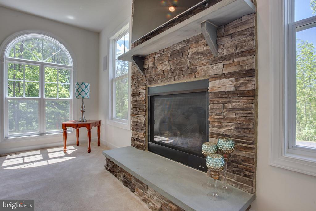 Stone Fireplace Surround with Hearth - 20 WHISTLER WAY, STAFFORD