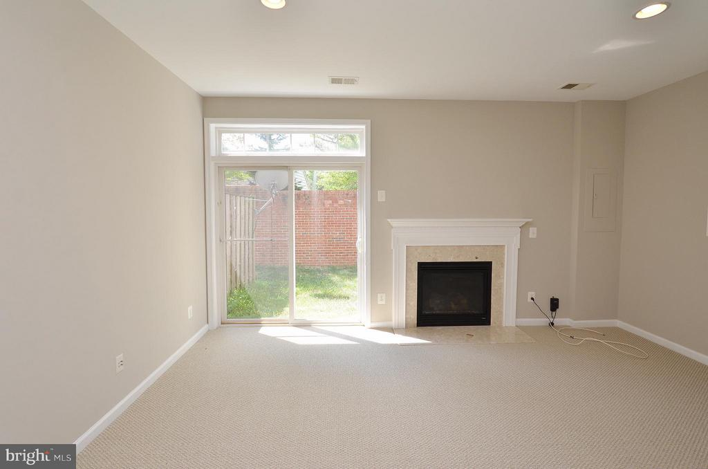 Family Room Lower Level with brand new carpet - 3502 ELLERY CIR, FALLS CHURCH