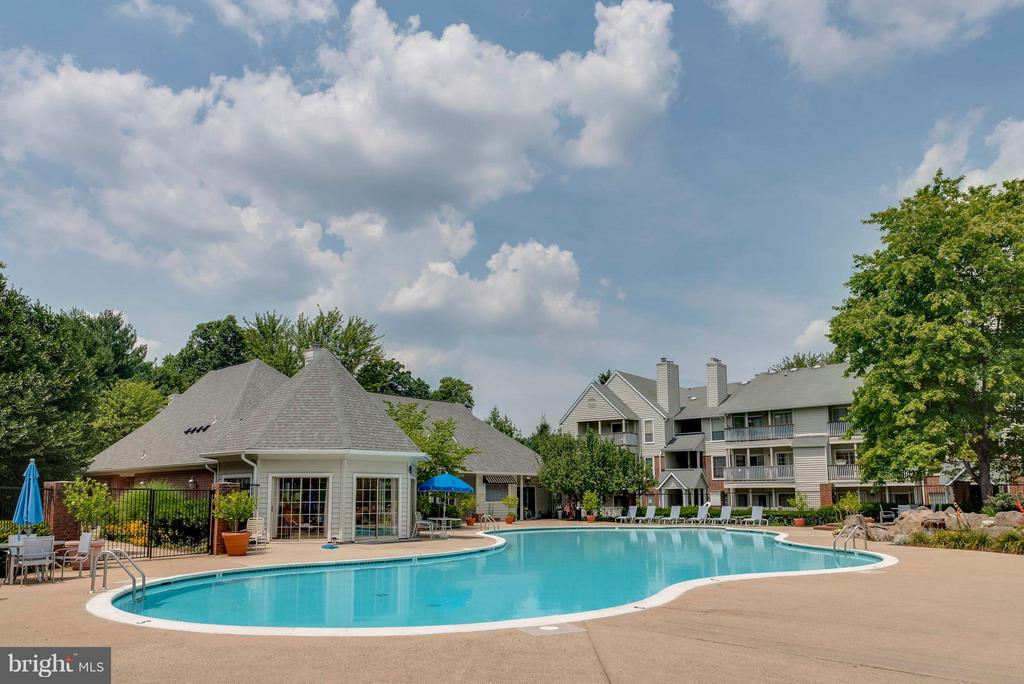 One of TWO community pools - 3912 PENDERVIEW DR #537, FAIRFAX