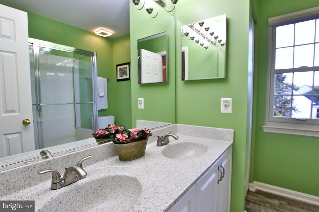 Sparkling hall bath with new countertop - 42867 AUTUMN HARVEST CT, BROADLANDS