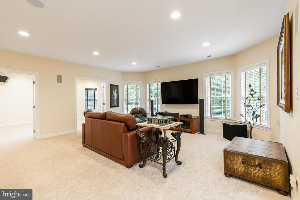 Home theater with 7.1 surround sound. - 43288 OVERVIEW PL, LEESBURG