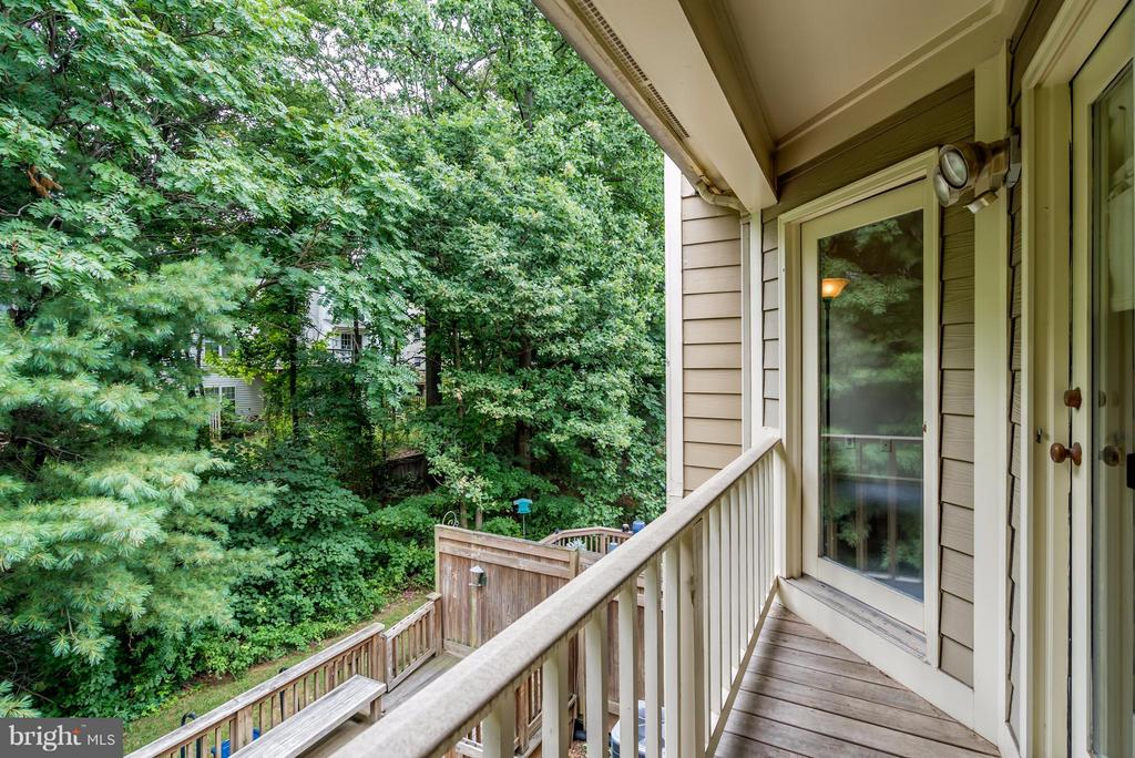 Wooded View from Veranda - 4021 LAKE GLEN RD, FAIRFAX