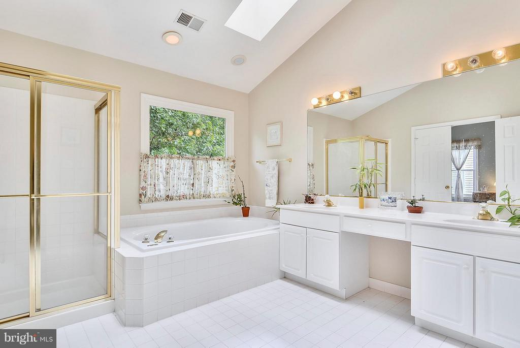 Master bath with nice skylights! - 2421 MILL HEIGHTS DR, HERNDON