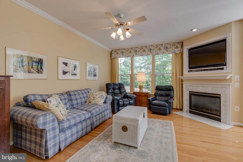 Cozy family room with gas fireplace - 9745 CRAIGHILL DR, BRISTOW