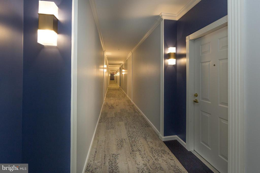 Well lit hallway to unit entrance - 5112 DONOVAN DR #203, ALEXANDRIA