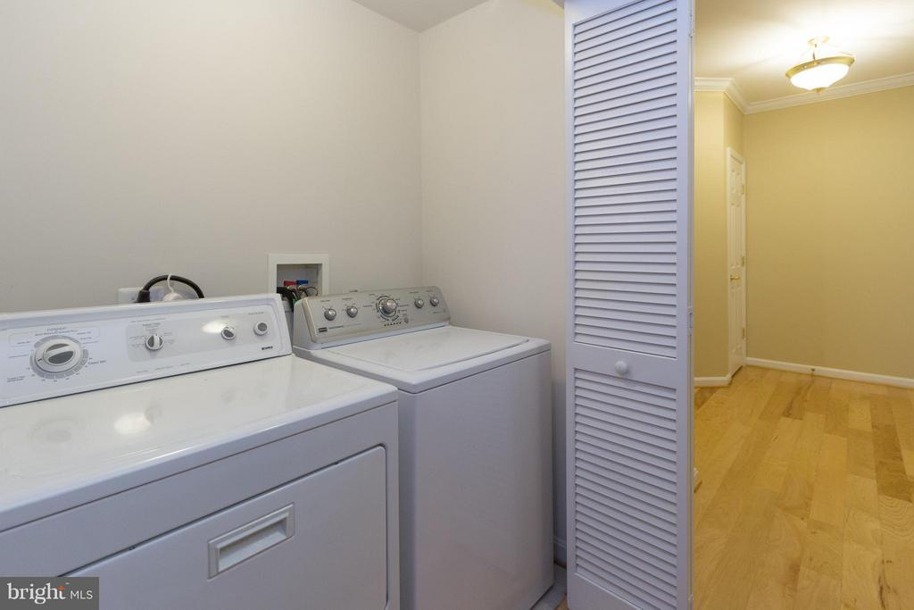In-unit laundry room. - 5112 DONOVAN DR #203, ALEXANDRIA