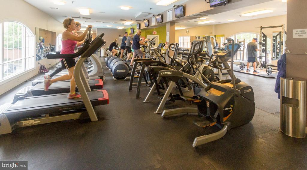 Large Fitness room with multiple workout machines. - 5112 DONOVAN DR #203, ALEXANDRIA