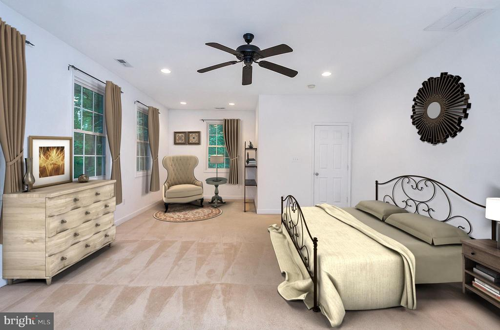 Virtually Staged Master Bedroom - 3116 LAKEVIEW PKWY, LOCUST GROVE