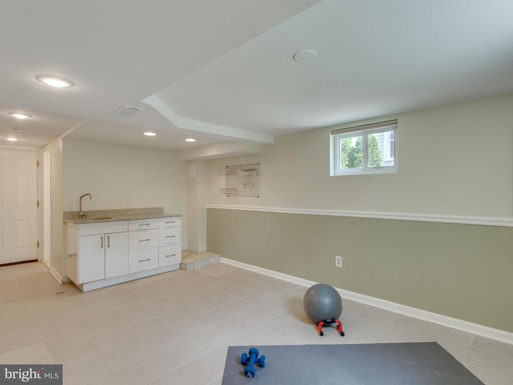Recreation room with wet bar/kitchenette - 3413 17TH ST S, ARLINGTON