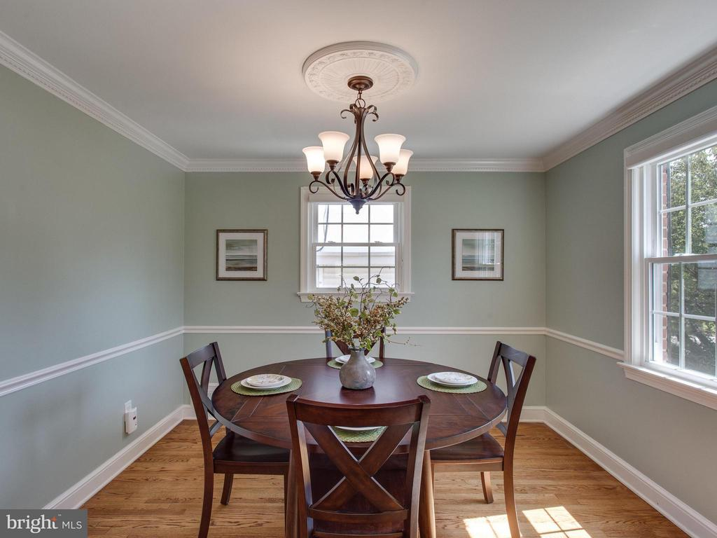 Gorgeous wood floors and lovely lighting in the DR - 3413 17TH ST S, ARLINGTON