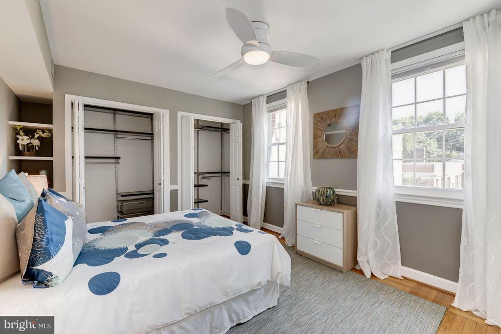 Spacious Bedroom w/ 3 ELFA Custom Closets - 2729 ORDWAY ST NW #5, WASHINGTON