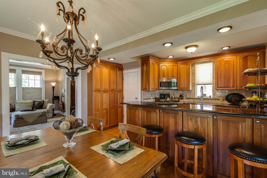 Open flow from living to dining and kitchen - 328 HUME AVE, ALEXANDRIA