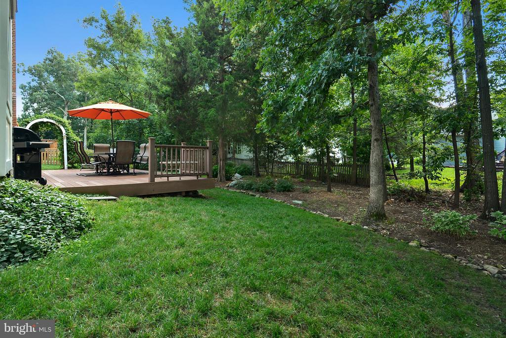 Backyard view to deck & private yard! - 20977 DEER RUN WAY, ASHBURN