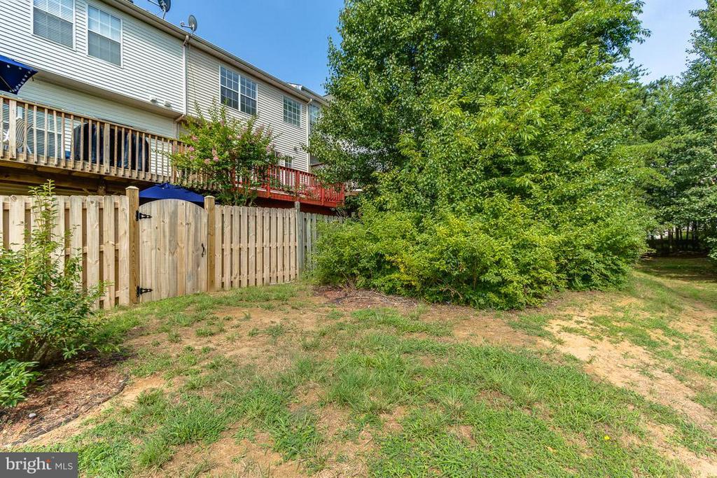 Outside Rear Fenced Area-Back of House - 17299 SLIGO LOOP, DUMFRIES