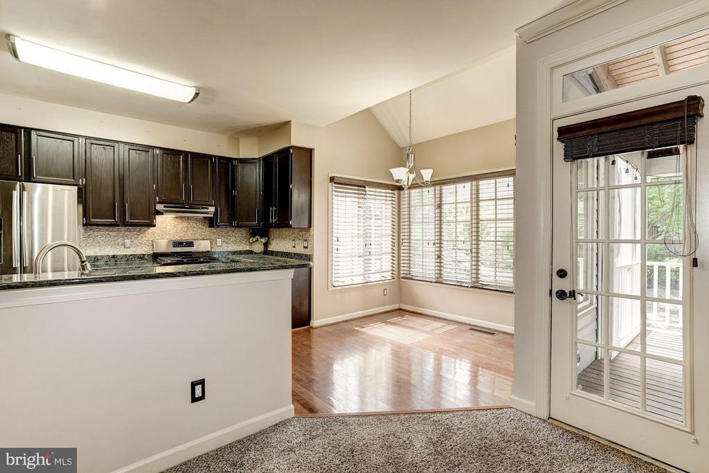 Kitchen View from Family Room - 20519 PEMBRIDGE CT, STERLING