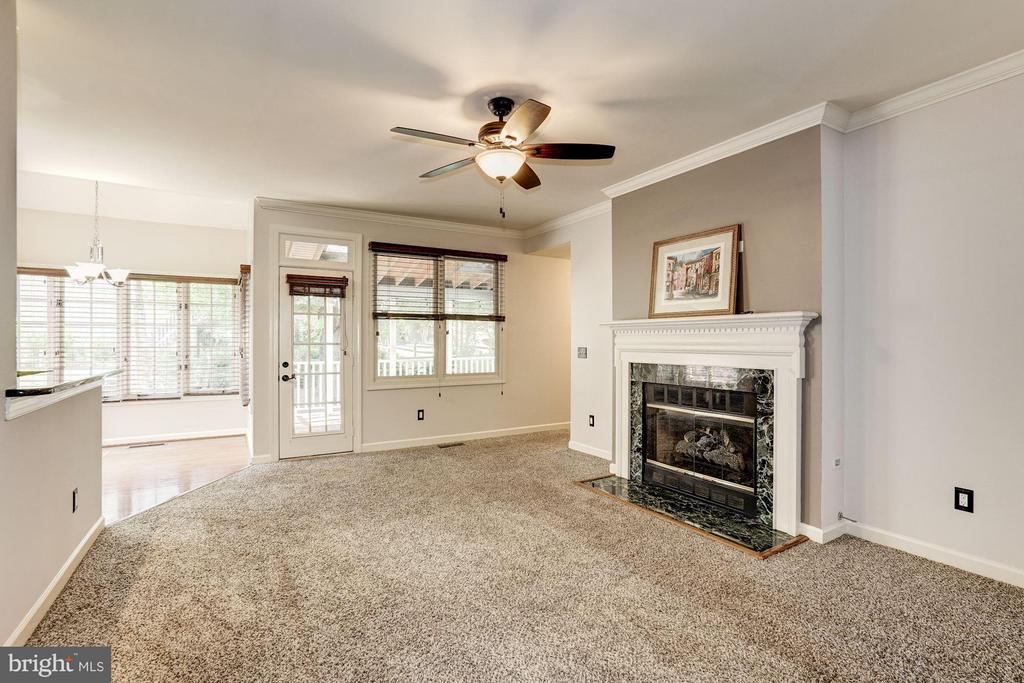 Family Room with Gas Fireplace - 20519 PEMBRIDGE CT, STERLING