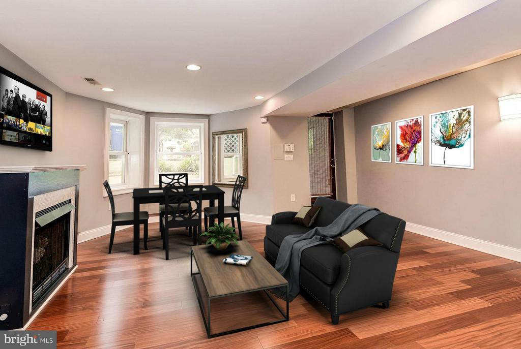 Living Area (1 of 3) - 1104 EUCLID ST NW #2, WASHINGTON