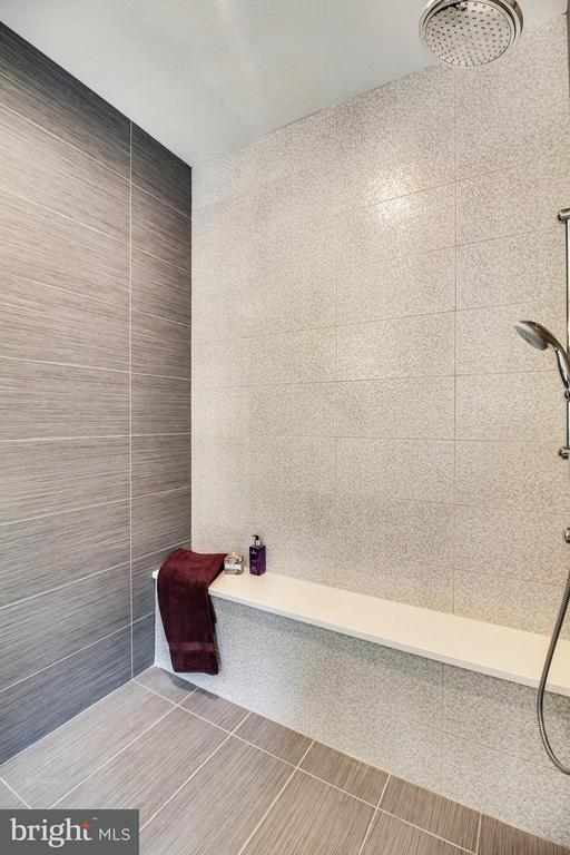Master shower has trough drain and specialty tile - 4415 BILL MOXLEY, MOUNT AIRY