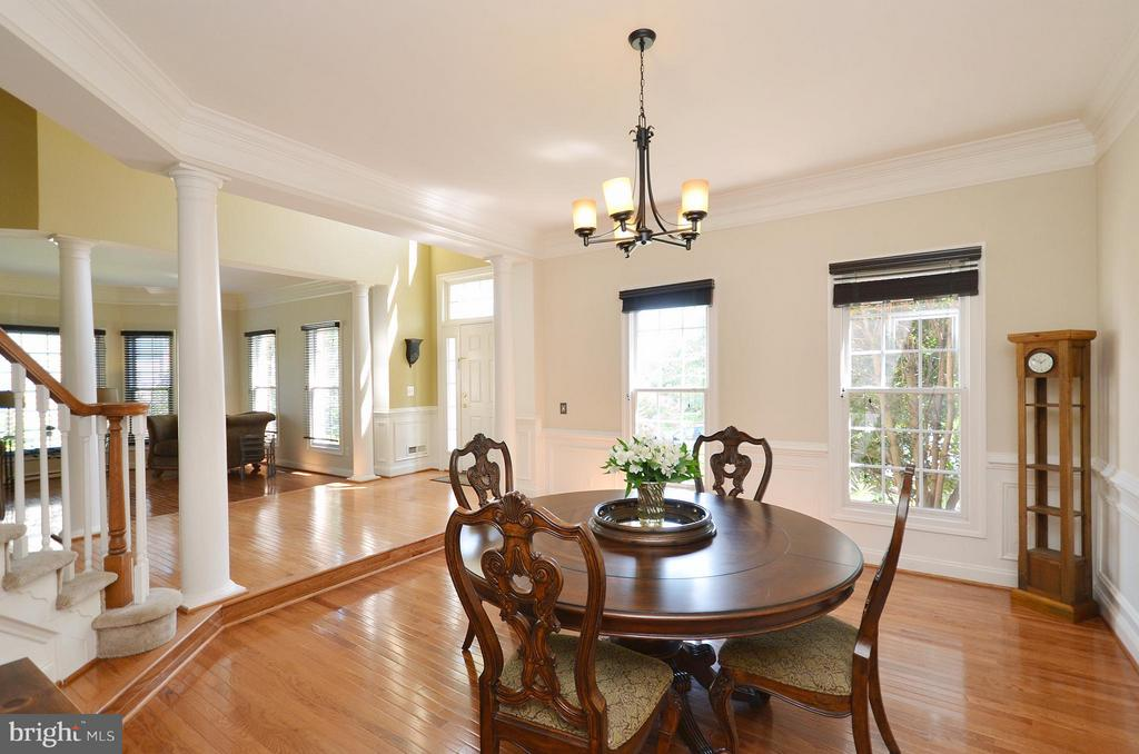 Dining Room with gleaming hardwood floors - 42828 FOREST SPRING DR, LEESBURG