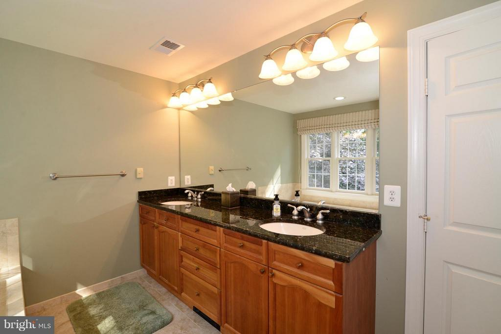 Dual sinks, ceramic tile and private water closet - 39637 GOLDEN SPRINGS CT, HAMILTON