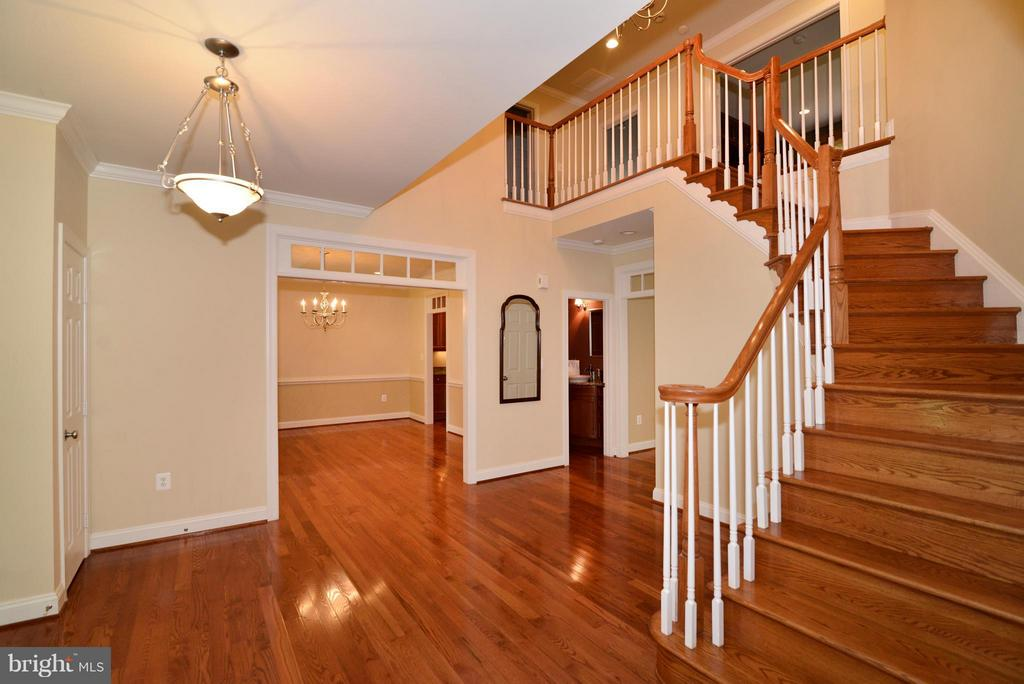 Foyer stairs to the upper level landing - 39637 GOLDEN SPRINGS CT, HAMILTON