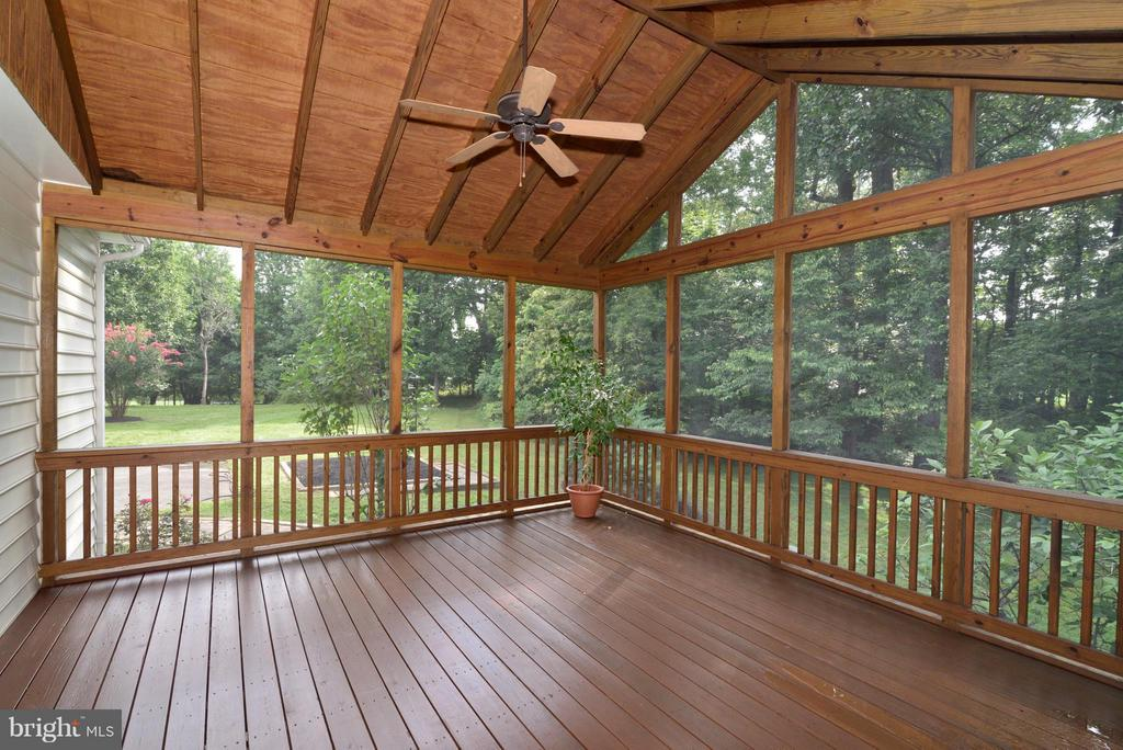 Screened in back porch - 39637 GOLDEN SPRINGS CT, HAMILTON