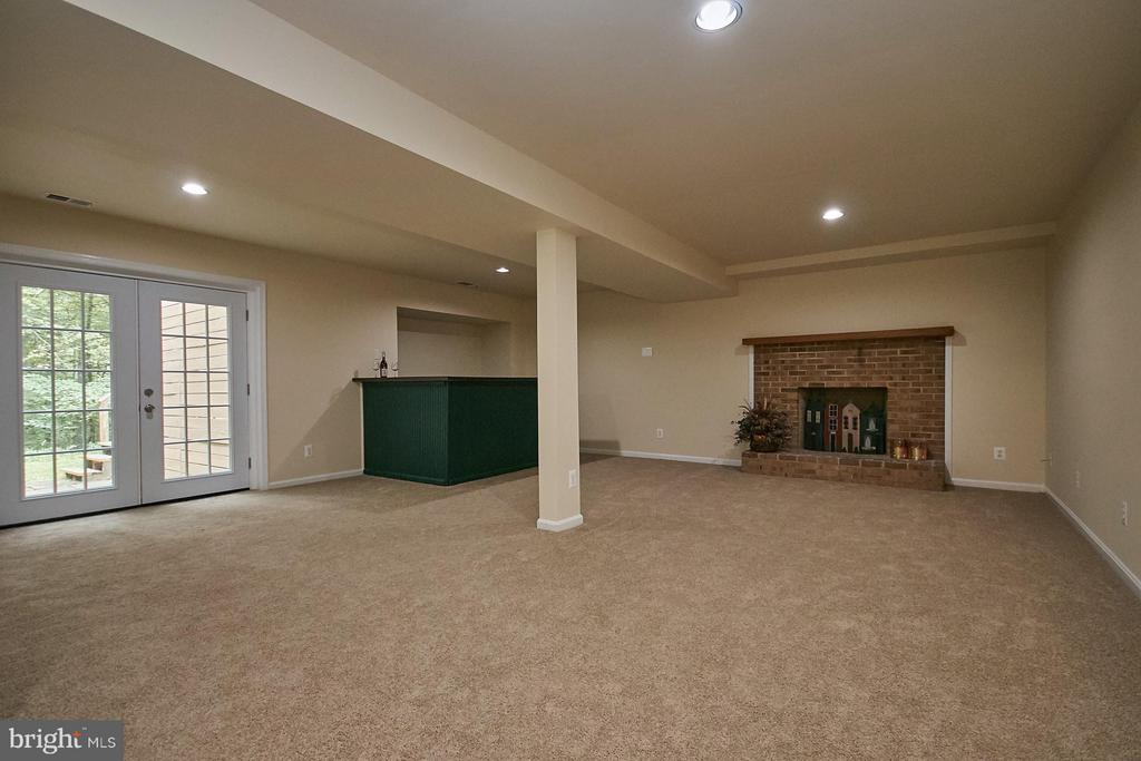 Huge Recreation Room with Fireplace - 12213 HENDERSON RD, CLIFTON