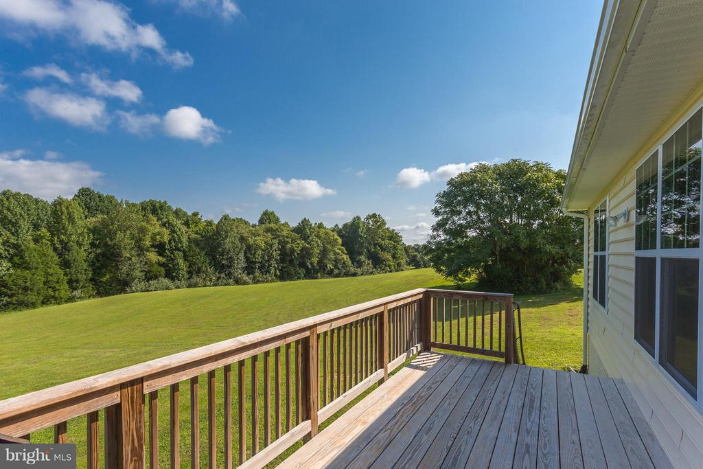 Great view from the deck - 7929 DOWD FARM RD, SPOTSYLVANIA