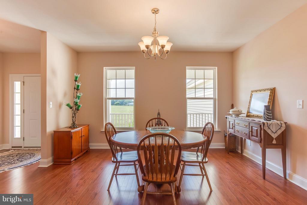 Dining Room with hardwood floors - 7929 DOWD FARM RD, SPOTSYLVANIA