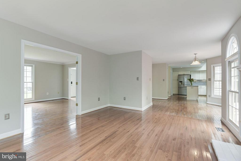 Family Room with Hardwood Floors - 21314 THIMBLEWEED CT, ASHBURN