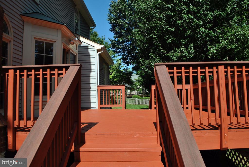 Deck Steps on Both Sides of Deck. - 21314 THIMBLEWEED CT, ASHBURN