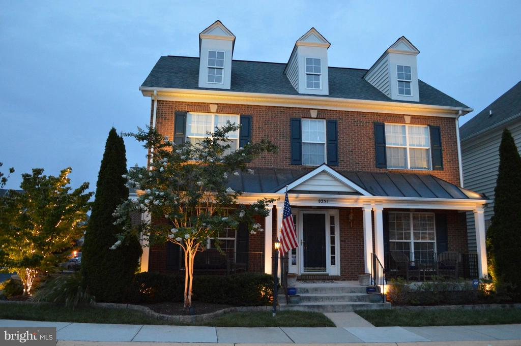 Front - gorgeous at Dusk! - 8251 LAUREL HEIGHTS LOOP, LORTON