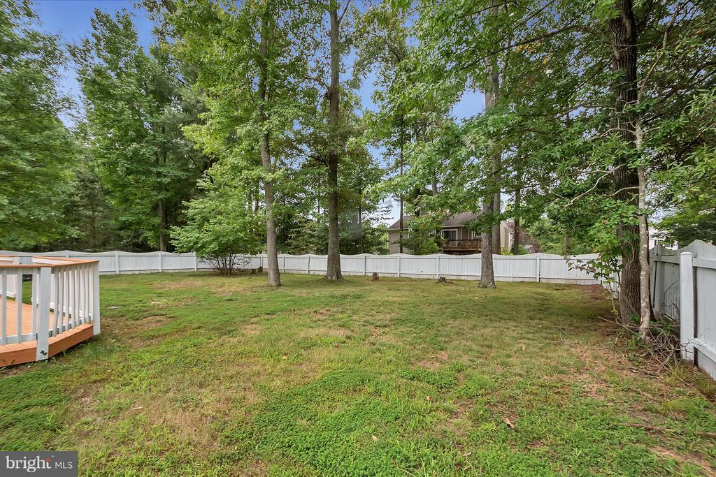 Fully Fenced Yard - 10108 S. FULTON DR, FREDERICKSBURG