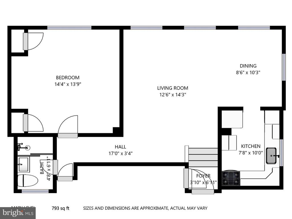 Floor plan - 3340 MARTHA CUSTIS DR #215, ALEXANDRIA