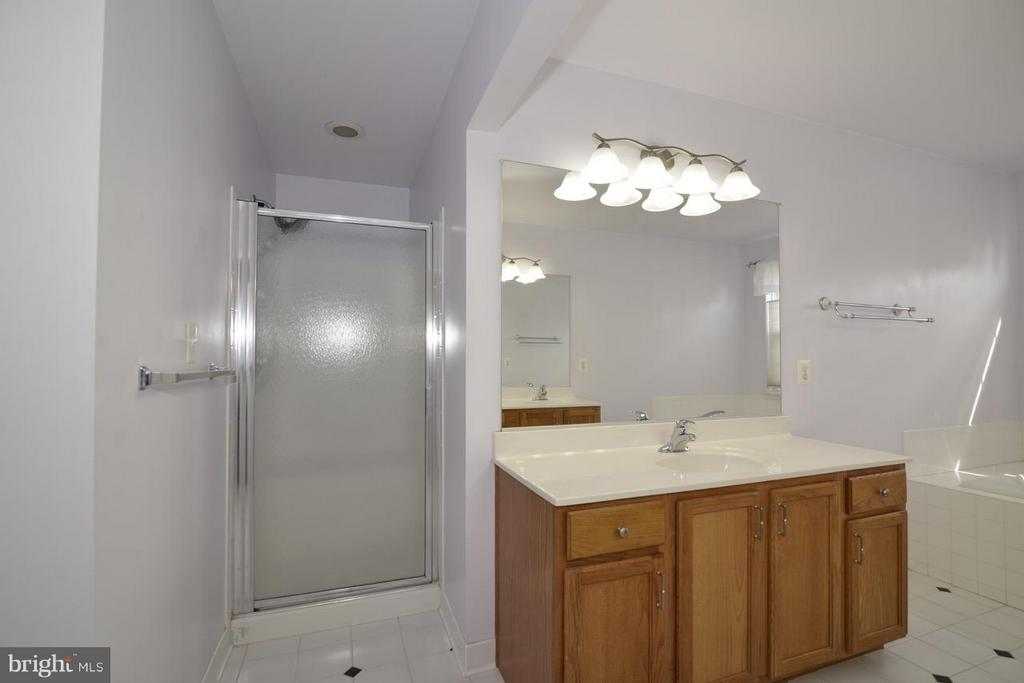 Separate shower with bench - 17233 MAGIC MOUNTAIN DR, ROUND HILL