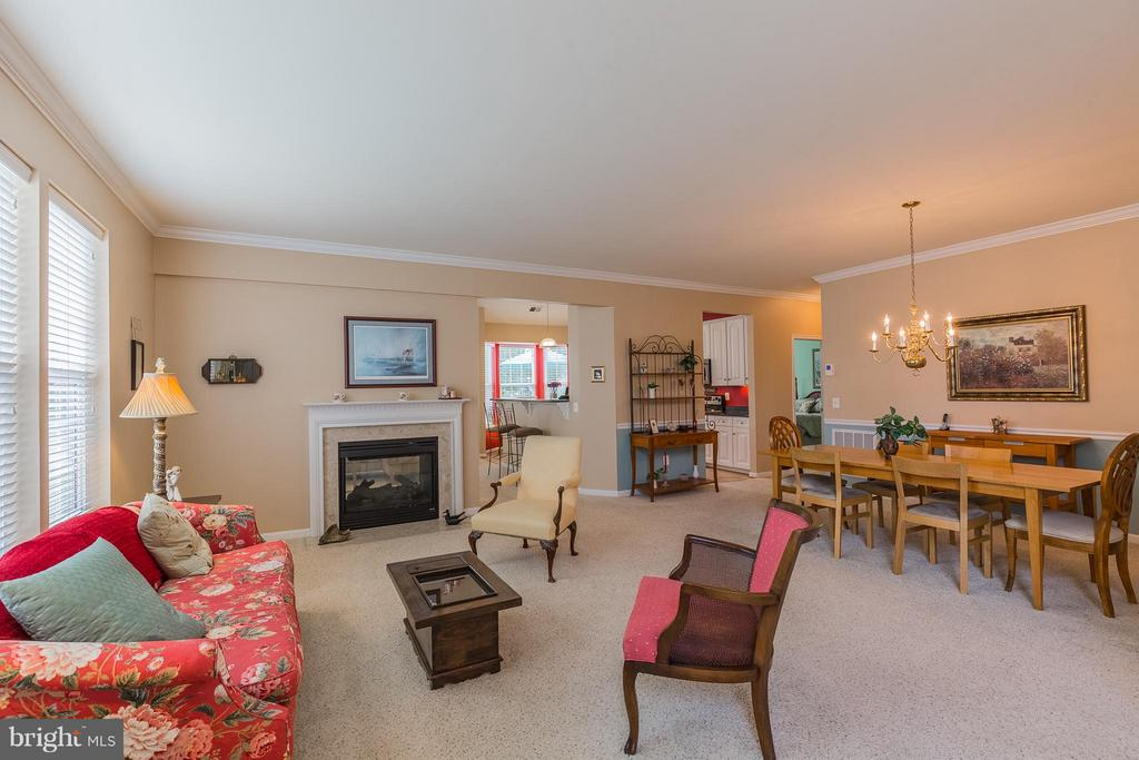 Living Room towards two-sided fireplace - 17271 FOUR SEASONS DR, DUMFRIES