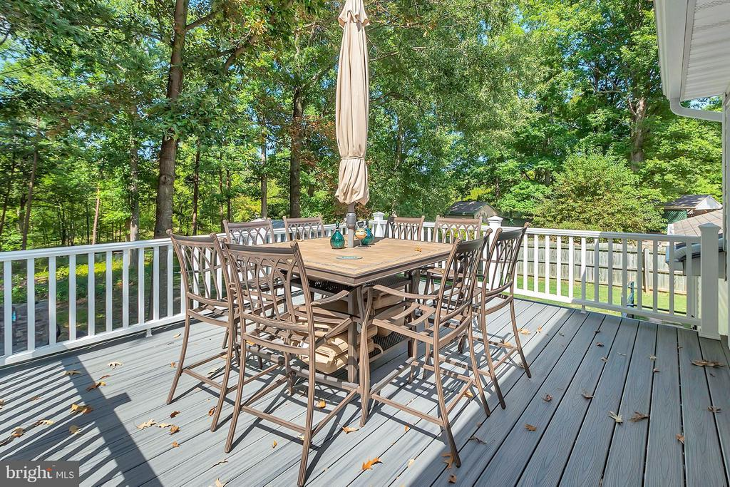 Deck - Furniture to Convey to Buyer - 11906 HUNTING RIDGE DR, FREDERICKSBURG