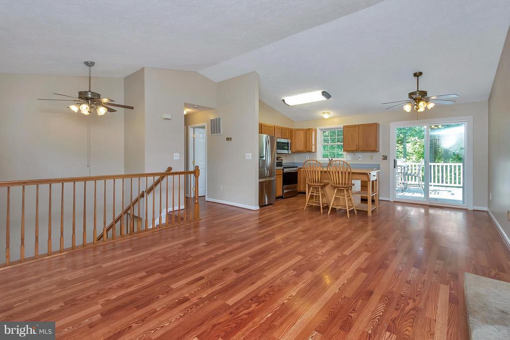 Living Room, Dining Area, & Kitchen View - 11906 HUNTING RIDGE DR, FREDERICKSBURG