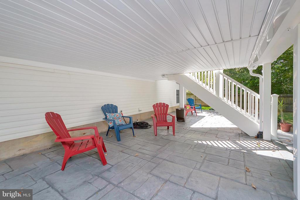 Patio under Upper Deck - 11906 HUNTING RIDGE DR, FREDERICKSBURG