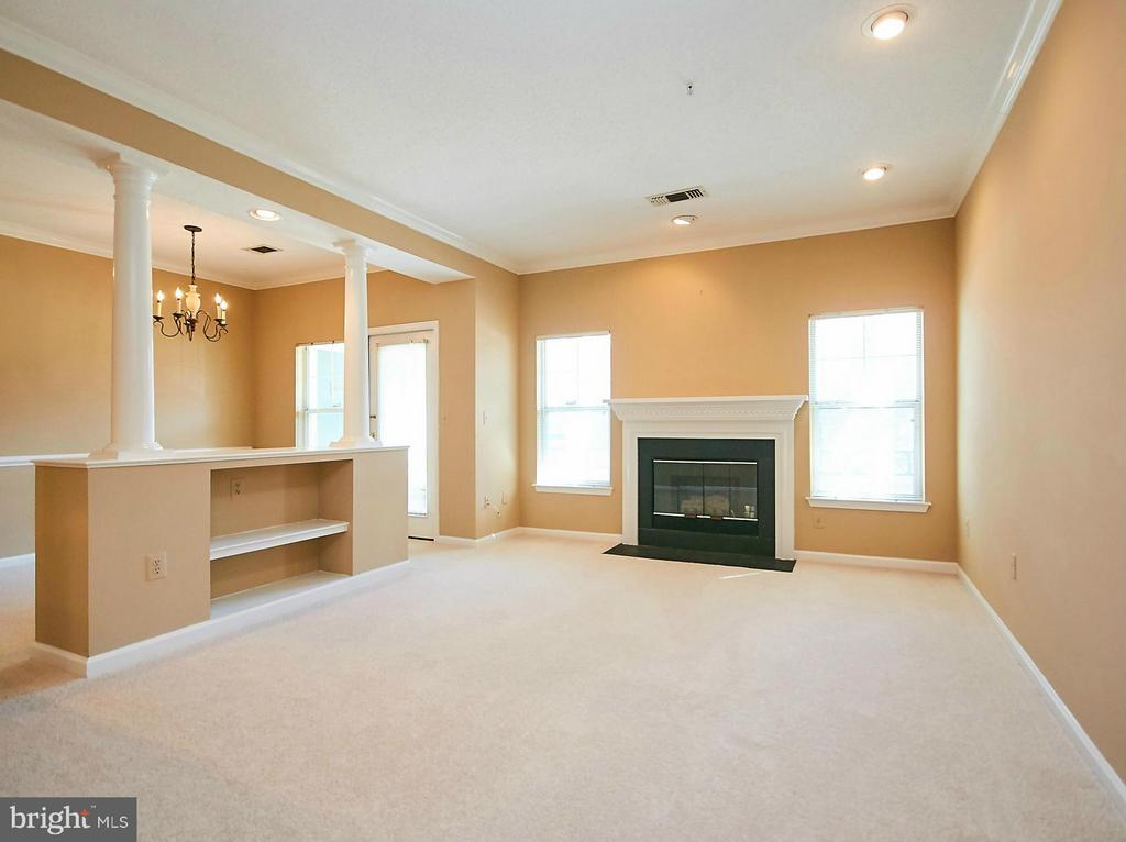 Living Room with Gas Fireplace - 12024 TALIESIN PL #12, RESTON